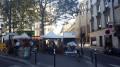 Paris - petite place de l'avenue des Ternes devant St Ferdinand