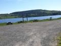 Parking au bord du lac