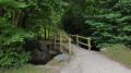 Passerelle dans le bois de Lossulien