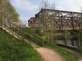 Passerelles d'une ancienne voie ferrée sur l'Orne