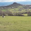 L'oppidum de Ronzières au départ de Vodable et vue sur le Lambron