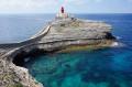 Phare de la Madonetta, Îlot de Fazzio, plage de Paragan depuis Bonifacio