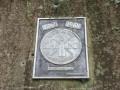 Plaque signalétique à l'entrée de l'ancienne mine de fer de May-sur-Orne