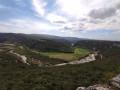 Le bois d'Ajude, les falaises de l'Ibie, le Gour de la Sompe à Lagorce