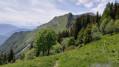 Pointe de la Fougère, l'arête vue du col de la Fougère