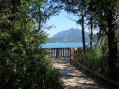 Premier point de vue sur le lac