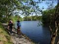 Promeneurs au lac