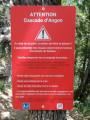 Recommandations avant d'arriver à la cascade