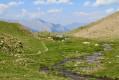 Lac de Terres Plaines depuis la route du Col de Restefond