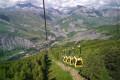 Le Lac de Puy Vachier et le Belvédère depuis le téléphérique des Glaciers