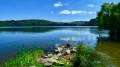 Le Suc de Cherchemus depuis le Lac d'Issarlès