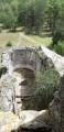Ruines du prieuré de St Jean des Balmes depuis le haut de la tour