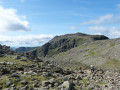 Scafell Pike and the slopes of Broad Crag