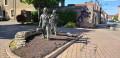 Sculpture en face la mairie de Marsannay la Cote.