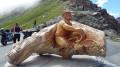 Sculpture en mémoire du cycliste Scarponi