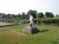Sculpture place de la mairie et salle des fêtes