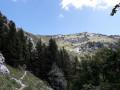 Sentier à l'approche de Cabane de Bellefond