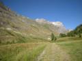 Sentier retour le long de l'Isère