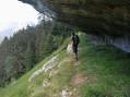 Sentier sous la roche de Fitta