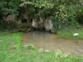 Source et roches en côte Chalonnaise