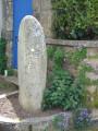 Stèle christianisé de l'âge du fer