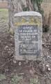 Stèlle érigée à l'emplacement du village disparu de Leibersheim
