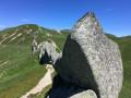 sur le sentier menant au Puy Gros
