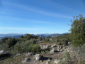 Top of the Mont Bastide and view to the Alps