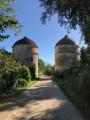 Champs, bois et tours du Château de Guerchy