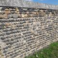 Un mur à l'entrée de Parentignat