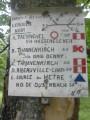 Un panneau dans le massif du Taennchel