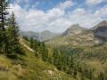Crête de la Lausetta depuis le Col de la Lombarde