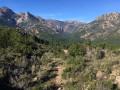 Vallée de Cavu - vue montagne