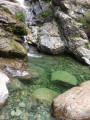 Vasque en aval de la cascade des Anglais