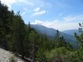 Ventoux au loin après le Col de la Frache.