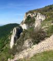 Versant Ouest du rocher de Turon, le Serre Bochon en arrière plan