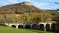 Viaduc et falaise de la Brème