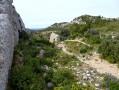 Les Caisses et les crêtes au-dessus de Mouriès