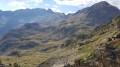Vue depuis depuis le premier col à 2476 mètres d'altitude