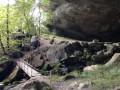 Vue depuis l'interieur de la grotte