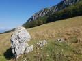 Vue des contreforts du Vercors depuis la plaine des Ecouges