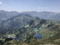 Vue des lac au sommet du pic de Tarbésou