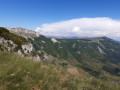 Vue du plateau d'Ambel depuis la crête de la Sausse