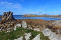 D'Est en Ouest, estuaire, îlots et roches escarpées à Plougrescant