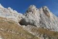 Vue nord sur la falaise et le Pas de l'Oeille 1960m