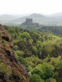 Vue superbe sur le chateau de Murol