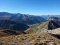 Vue sur Ceillac depuis la Pointe de Rasis