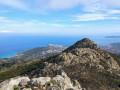 Vue sur l'Ile Rousse au sommet