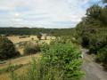 Vue sur la vallée de la Risle et le petit village de Champignoles