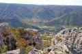 Vue sur la vallée de Tarn depuis le Roc des Agudes